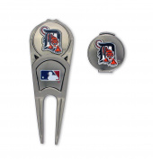 MLB Detroit Tigers Ball Mark Repair Tool & Hat Clip Combo