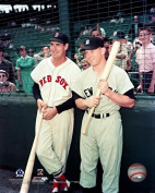 New York Yankees Mickey Mantle and Boston Red Sox Ted Williams Together at Fenway Park 8x10 Photograph