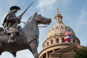 Terrys Texas Rangers Monument State Capitol Dome Photo Art Print Poster 18x12