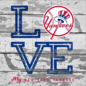 New York Yankees Love My Team - Square
