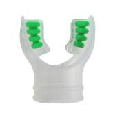 Scuba Diving Clear Silicone Octopus Snorkel Mouthpiece Colour Tab & Regulator Tie