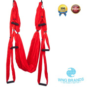 Yoga Swing By WNG Brands Aerial Yoga Back Inversion Sling Anti gravity Yoga Hammock For Strengthening & Back Pain Relief Available In 3 Colours Heavy Duty Fabric For Maximum Safety & Comfort