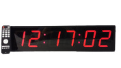 Extra Large Digital Wall Clock - 10cm LED Count Down/Up/Interval Timer/Stopwatch Remote Control Wall Clock