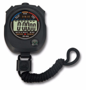 HARRYSTORE Waterproof Digital LCD Stopwatch Chronograph Timer Counter Sports Alarm with Large LCD Display, Black