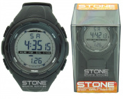MENS SPORTS WATERPROOF WATCH EASY READ RUNNING JOGGING STOPWATCH STONE® BRAND
