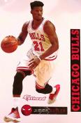 Jimmy Butler FATHEAD Chicago Bulls Logo Set Official NBA Vinyl Wall Graphics 43cm INCH