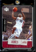 2005 06 Upper Deck Rookie Debut LeBron James Cleveland Cavaliers Basketball Card #15 - Mint Condition - In Protective Display Case !!