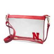 University of Nebraska Huskers Capri Designs Clearly Fashion Licenced Clear Large Crossbody Meets Stadium Requirements