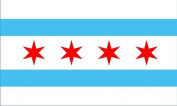 Chicago Flag 1.5m x 0.9m - USA - Seasonal Superstore