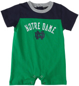 Notre Dame 1pc Romper Infant Baby Shirt Kelly Green