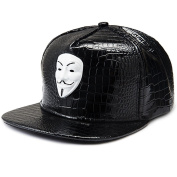 MCSAYS Hip Hop Style Ghost Mask Pendant PU Leather Sports Caps Baseball Cap/ Hat