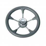 Osculati 45.127.02 - Polyurethane steer. wheel SS spokes Ø 280 mm grey