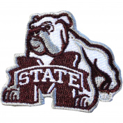 Mississippi State Bulldogs NCAA Bulldog Iron On Embroidered Patch 3.8cm x 5.1cm