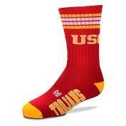 USC Trojans For Bare Feet Youth 4-Stripe Deuce Quarter-Length Socks