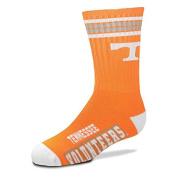 Tennessee Volunteers For Bare Feet Youth 4-Stripe Deuce Quarter-Length Socks