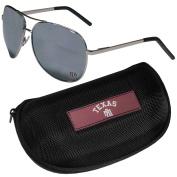 NCAA Texas A & M Aggies Aviator Sunglasses & Zippered Carrying Case