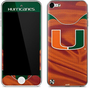 University of Miami iPod Touch (5th Gen & 2012) Skin - Miami Hurricanes Jersey Vinyl Decal Skin For Your iPod Touch