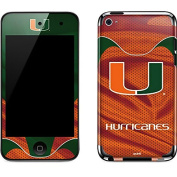 University of Miami iPod Touch (4th Gen) Skin - Miami Hurricanes Jersey Vinyl Decal Skin For Your iPod Touch
