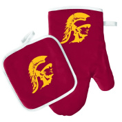 Oven Mitt and Pot Holder Set - Barbeque BBQ Kitchen Backyard Outdoors - NCAA - Southern California Trojans