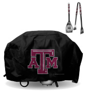 Official National Collegiate Athletic Association Fan Shop Authentic NCAA Large 170cm Grill Cover and BBQ Utensil Set. Broadcast Your Favourite College While Grilling and Covering the Grill