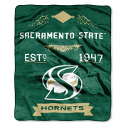 NCAA Cal State Sacramento Hornets Plush Raschel Throw Blanket, Green, 130cm x 150cm