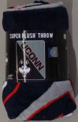 NCAA Connecticut Huskies Halftone Micro Raschel Throw Blanket, 120cm x 150cm , National Flag Blue