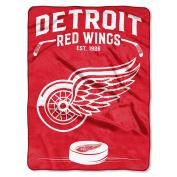 NHL Detroit Red Wings NCAA Inspired 150cm by 200cm Raschel Throw Blanket, 150cm x 200cm