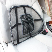 TFXWERWS Car Seat Chair Massage Mesh Back Lumbar Beads Support Cushion