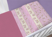 100% Cotton Bedding Set for Cot Bed in Set Model 6478 Lettino 6478 Rosa