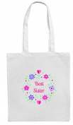 BEST SISTER Shopping/Tote/Bag For Life/Shoulder Bag By Mayzie Designs®