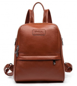 BOSTANTEN Women Genuine Leather Backpack Purse Satchel Shoulder School Bag Rucksack for College Coffee Medium