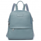 BOSTANTEN Women Genuine Leather Backpack Purse Satchel Shoulder School Bag Rucksack for College New Blue Medium
