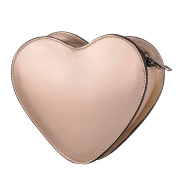 BORDERLINE - 100% Made in Italy - Real Leather Clutches - HEART