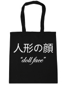 HippoWarehouse .... 'Doll Face' Tote Shopping Gym Beach Bag 42cm x38cm, 10 litres