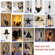 ZLL Retro industrial wind wall lamp, iron creative aisle corridor bedside cafe bar outdoor waterproof wall lamp , 7