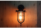 ZLL Industrial American village retro wall lamp, creative iron wall lamp bar coffee aisle balcony outdoor wall lamp