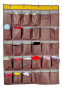 30 Pocket Over Door Hanging Organiser Home Tidy Storage Unit Rack Multi-Layer Space Saver Wardrobe Organise Bag