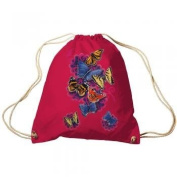 Trend Bag Gym Bag Sports Bag Backpack with Print - Butterflies - TB65324 Colour red