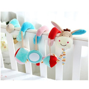 Infant Baby Activity Hanging Spiral Bed Musical Gift Toys with Mirror and Bell for Stroller Car Seat Cot Lathe Crib Pushchair Pram