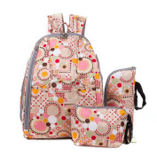 Fashion Pretty Antibacterial Mommy Backpack Travel Tote Large Capacity Mummy Bag With Bottle Bag and Purse