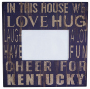 """NCAA Kentucky Wildcats """"In This House"""" 10cm . x 15cm . Wood Photo Frame"""