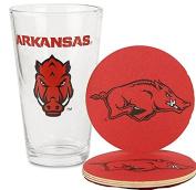Arkansas Razorbacks Pint and Coaster Set