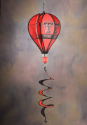 BSI Outdoor Garden Yard Party Decorative Texas Tech Red Raiders Team Logo Hanging Hot Air Balloon Spinner
