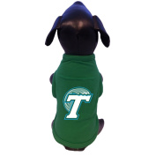 NCAA Tulane Green Wave Cotton Lycra Dog Tank Top, Large