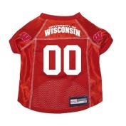Wisconsin Badgers Premium NCAA Pet Dog Jersey w/ Name Tag XL