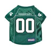 Michigan State Spartans Premium NCAA Pet Dog Jersey w/ Name Tag XS
