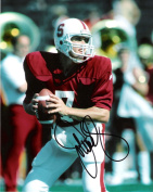 Autographed Elway Photograph - QB- #7 CARDINALS in thePROS 9 TIME PRO BOWLER Inducted HOF 2004 5x3 Index Card