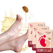 3 Pairs Moistening Foot Mask, Ularma Exfoliating Peel Off Foot Mask Baby Soft Feet Remove Callus Hard Dead Skin