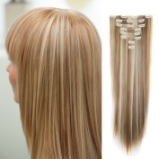 2-5 Days Fast Delilvery 70cm Long Straight Full Head Clip in Hair Extensions Synthetic Hairpiece for Women Beauty Ginger Brown mix Bleach Blonde