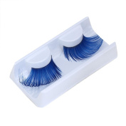 False Eyelashes,Clode® 1 Pair Natural Makeup Handmade Voluminous Cross Long Colourful Feather False Eyelashes for Party
